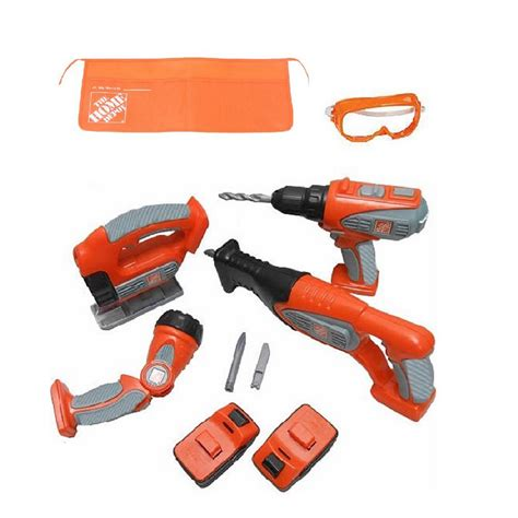 the home depot 10 deluxe power tool set with try me