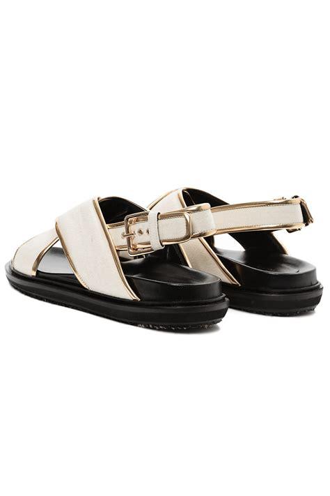 marni sandals marni beige fussbett sandals lyst
