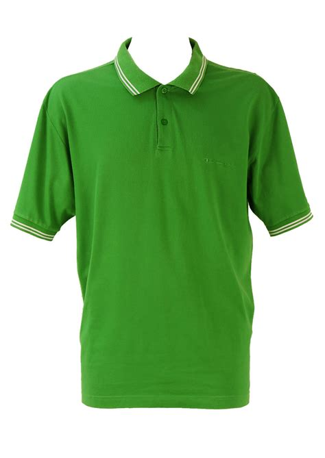 chion emerald green polo shirt xl vintage