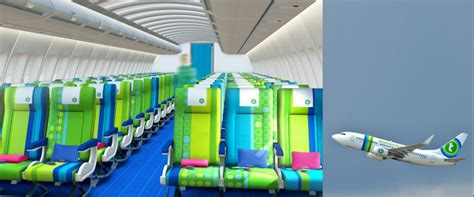 Interior Design Styles 2017 by Transavia In Green And Blue Desso Aviation