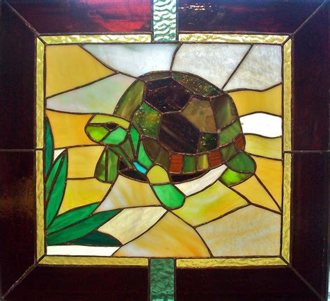 stained glass turtle l turtle stained glass panel by cadmiumcrab on deviantart