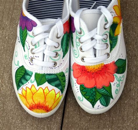 painted shoes painted shoes sneakers tropical original