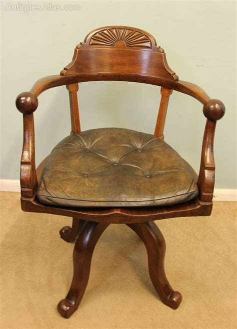 Antique Mahogany Swivel Desk Chair Antiques Atlas Antique Swivel Desk Chair