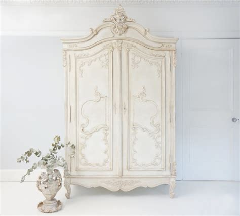 white french armoire delphine distressed white french armoire wardrobe hand