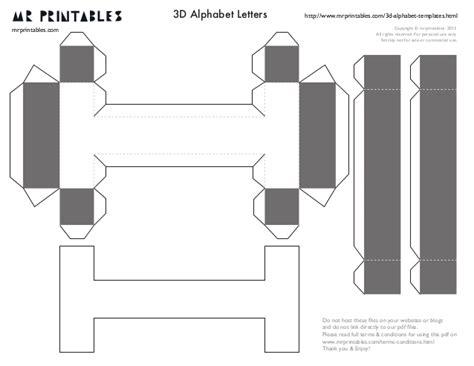3d letter template mrprintables 3d alphabet templates a to m