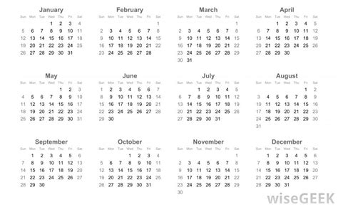 What Is A Calendar What Is The Gregorian Calendar With Pictures