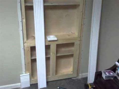 Hidden Door Bookcase Hinges The Hidden Bookcase Door Bt Productions Youtube