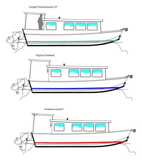 freeboard boat houseboat devlin designing boat builders