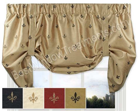fleur de lis tie up valance window treatments