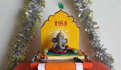 simple easy ganesh chaturthi decoration