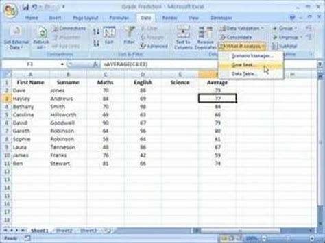 goal seek tutorial excel 2010 excel 2007 using goal seek to calculate a value youtube