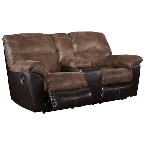 signature design by ashley barrettsville 2 seat reclining sofa signature design by ashley follett 6520294 two tone faux