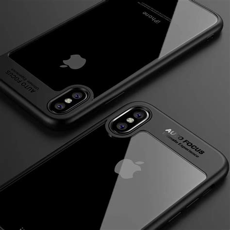 Iphone 7 Casing Bumper Silicon phone for iphone x back cover clear transparent