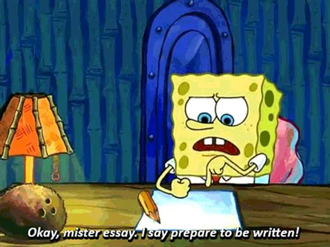 spongebob writing paper spongebob essay
