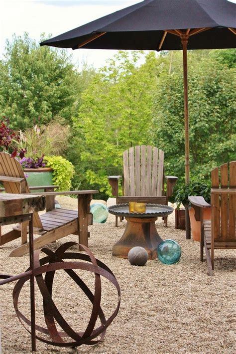 pea gravel backyard ideas patio landscape design cost effective pea gravel patio