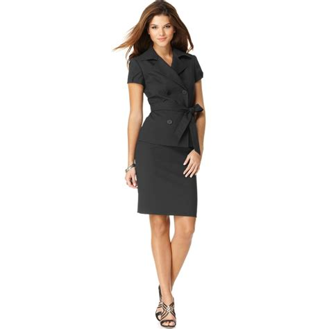 nine west skirt suit in black lyst