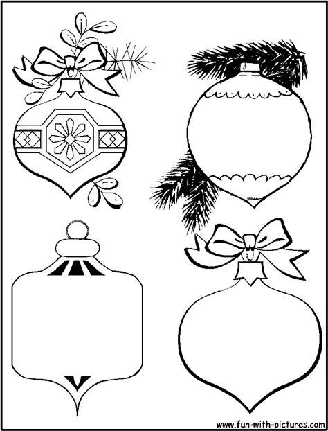 baubles to colour in baubles coloring page