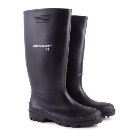 mens black leather wellington boots mens dunlop waterproof walking wellies