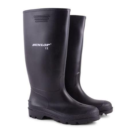 black wellington boots mens mens dunlop waterproof walking wellies