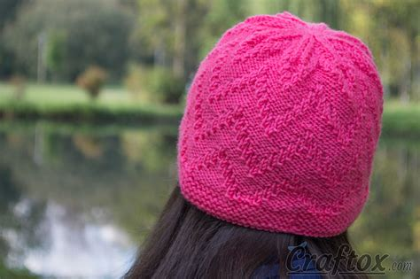 free zig zag knit pattern quot zigzag quot beanie quick and simple free zig zag hat