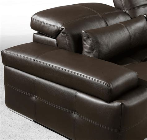 chocolate brown leather couch modern chocolate brown sectional sofa he solo leather