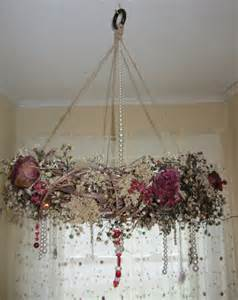 Chandelier Victorian Grapevine Wreath Chandelier Romantic Victorian Look