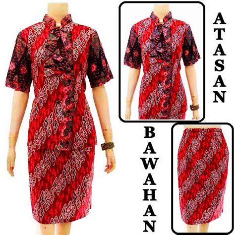 Rok Wiron Batik Ready Stock model blouse batik pramugari kode db 3756 db 3760