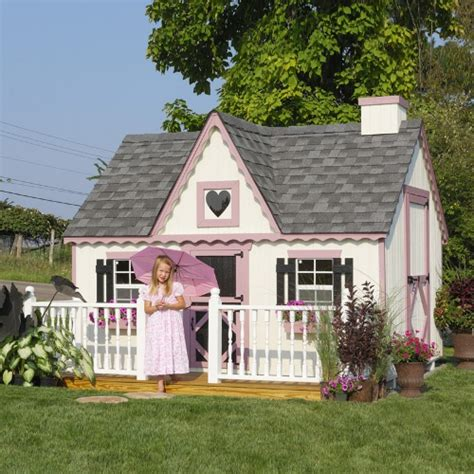 cottage playhouse cottage 8 x 8 wood playhouse outdoor playhouses at hayneedle