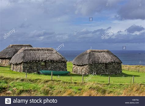 thatched cottages at the museum of island