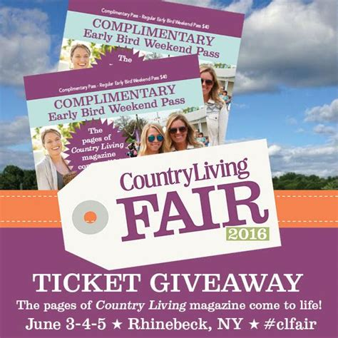 giveaway country living fair weekend passes rhinebeck
