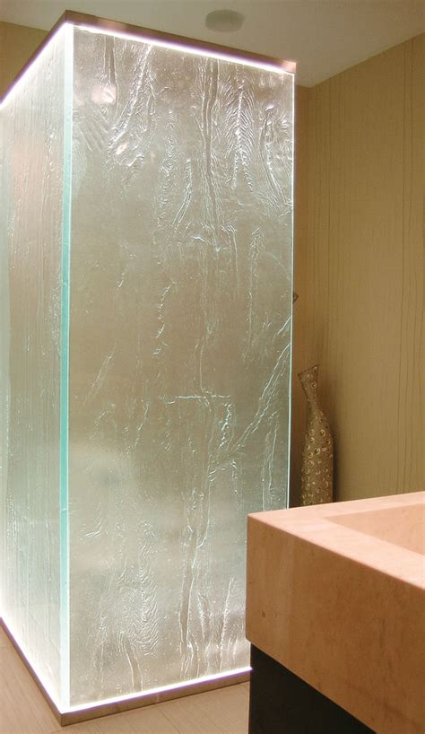 glass shower door offers privacy