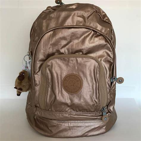 mochila escolar expans 237 vel kipling met 225 lica dourada