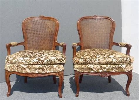 green velvet seat cushions 2 vintage arm chairs back green velvet floral