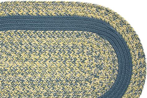 yellow braided rug williamsburg blue yellow williamsburg blue band braided rug