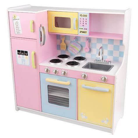 kid craft play kitchen kidkraft large pastel wooden play kitchen childrens