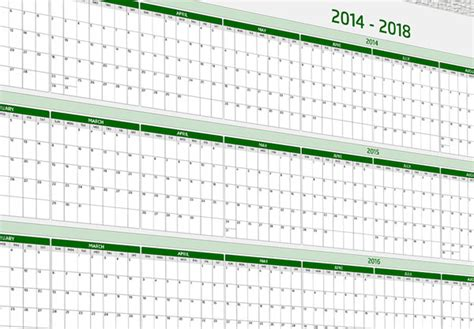 5 Year Calendar 5 Year Wall Calendar Released For Sale At Timegevity Net