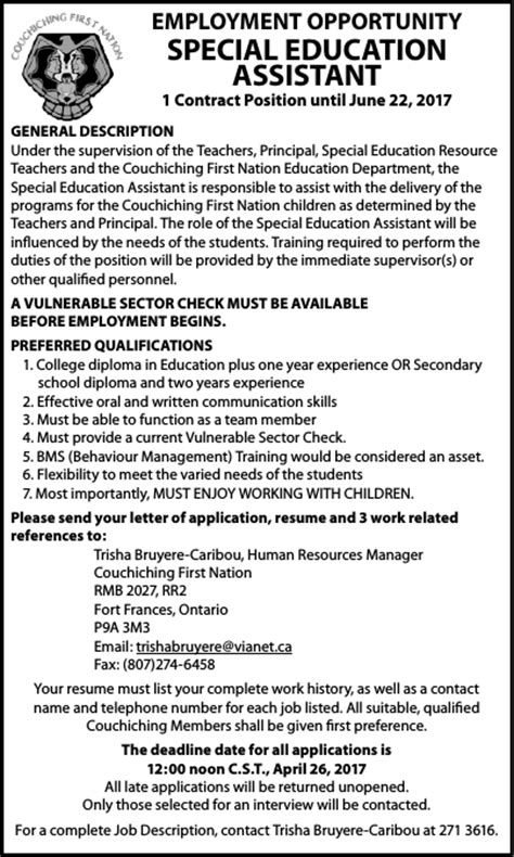 special education assistant cover letter special skills or qualifications on application ideas
