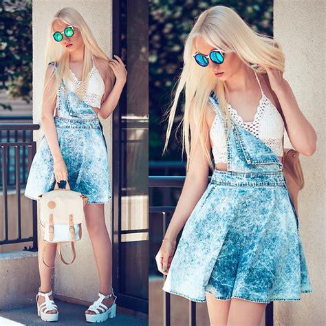 Ck Estonia Croco oksana orehhova oasap denim dress style moi top