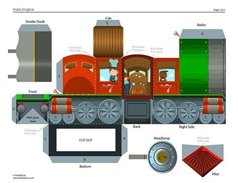 builder engine themes build your own train steam engine printable paper crafts
