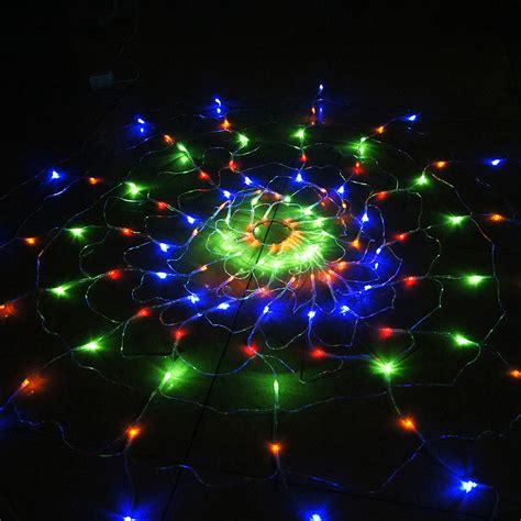 110v 220v colorful rgb spider led net light with 120 led