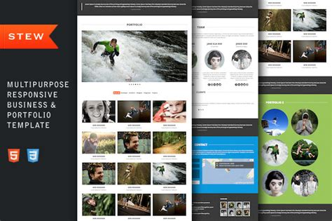 pr portfolio template bootstrap themes stew responsive portfolio template by