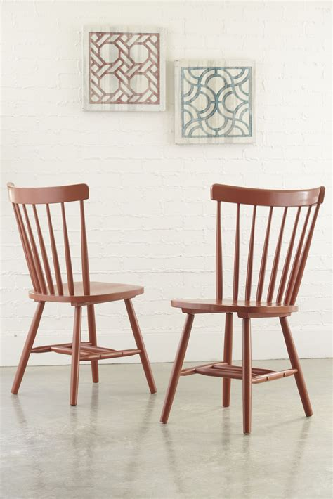 bantilly orange dining room chair set of 2 from