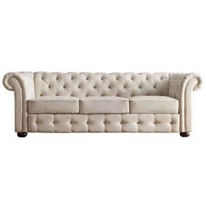 beige linen fabric tufted scroll arm chesterfield sofa