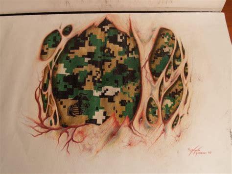 camo tattoo art marine tattoo by ninagolemi on deviantart