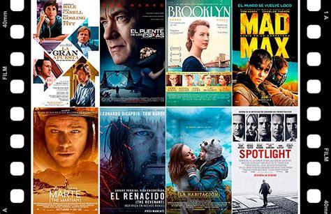 peliculas elegidas al oscar premios oscar 2016 las mejores pel 237 culas nominadas al