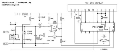 inductance meter using pic microcontroller accurate lc meter based on pic16f628a using pic microcontroller