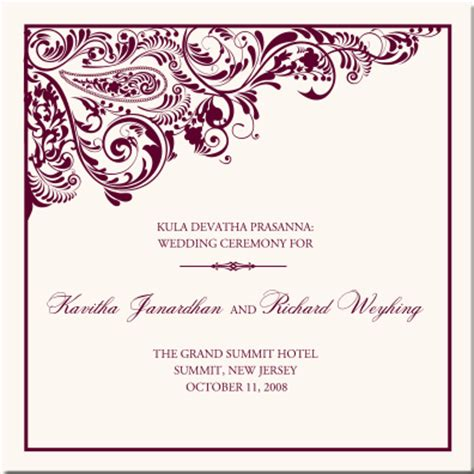indian wedding program cards design template nailya s papell chiffon gown turquoise