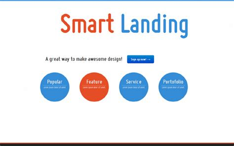 Simple Smart Landing Page Get Bootstrap Everyday Simple Landing Page Template