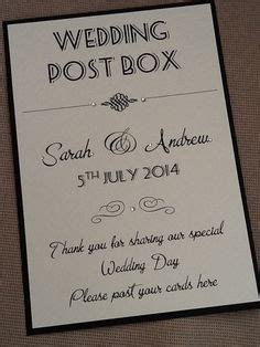 Wedding Card Box Sign Template by 1000 Ideas About Wedding Post Box On Wedding