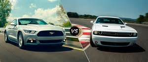 2015 ford mustang comparison dodge challenger car